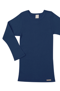 Fairtrade Shirt langarm, marine - comazo|earth