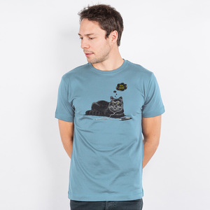Robert Richter – Chilling Cat - Mens Organic Cotton T-Shirt - Nikkifaktur