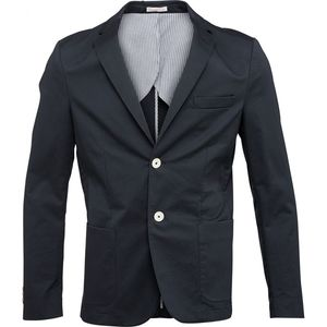 Cotton Twill Blazer - Total Eclipse - KnowledgeCotton Apparel