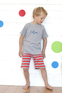 Kurzer Pyjama - grau - People Wear Organic