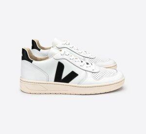 V-10 Leather extra white black - Veja