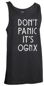 OGNX Yoga Long Tank Dont Panic its OGNX Unisex Schwarz - OGNX