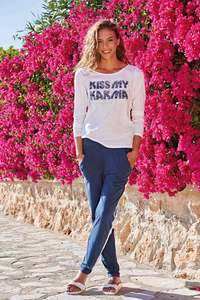 OGNX Yoga Hose Track Pant Damen Navy - OGNX