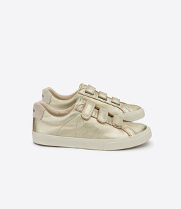SNEAKER - ESPLAR LEATHER 3-LOCKS - GOLD - Veja