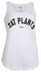 OGNX Yoga Tank Eat Plants Damen Weiß - OGNX