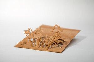 Zedernholzkarte Osterglocken Ostern - Formes