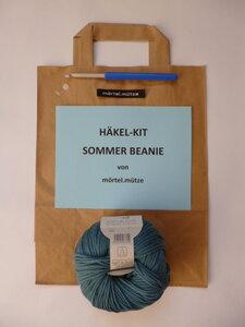 Häkel-Kit  Sommerbeanie - mörtel.mütze