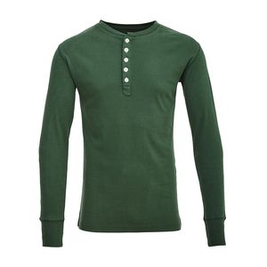 Rib Knit Henley - GOTS - Greener Pastures - KnowledgeCotton Apparel