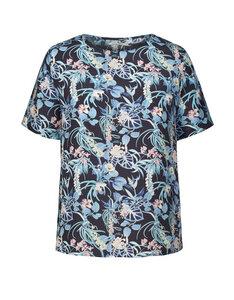 Bluse mit drapiertem Rücken Olga Tropic Island - ARMEDANGELS