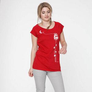FellHerz Shirt Moonstruck white/red - FellHerz