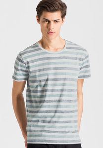 Print T-Shirt aus Bio-Baumwolle Dean Stripes - ARMEDANGELS