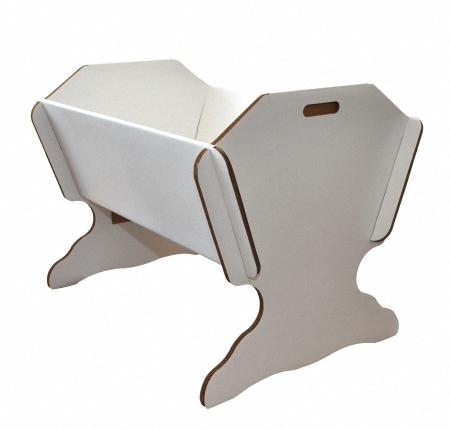 green lullaby kinderbett aus karton mit standfu ohne. Black Bedroom Furniture Sets. Home Design Ideas