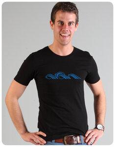 Wave Männer T-Shirt Schwarz - Trusted Fair Trade Clothing