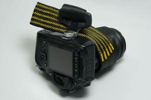 Kameragurt aus Autoanschnallgurt - Grünografie