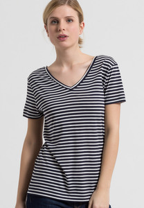 T-Shirt aus Tencel®-Mix Katia Stripes - ARMEDANGELS