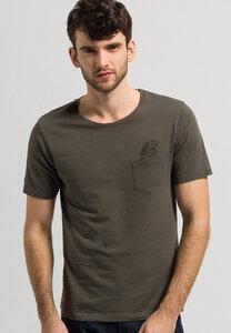 Print T-Shirt aus Bio-Baumwolle Dean Pocket Croco - ARMEDANGELS