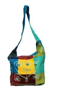Umhängetasche, Quadrate bunt 789-03 - Karma Fair Trade