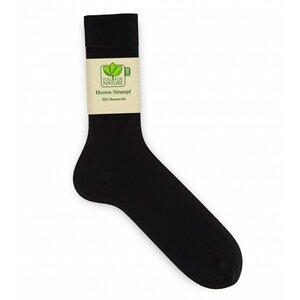 Herren Strümpfe/Socken kontrolliert biologische Baumwolle Schwarz - Natureline
