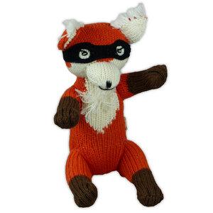 Bio Strick-Kuscheltier Fuchs mit Maske - Chill n Feel