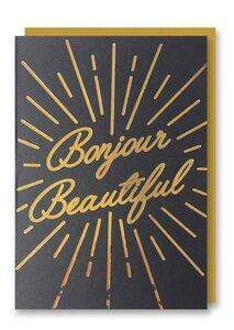 Bonjour Beautiful - Grußkarte - 1973
