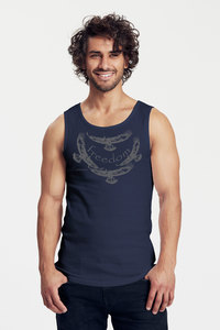 "Bio-Herren-Tank Top ""Freedom"" - Peaces.bio - Neutral® - handbedruckt"