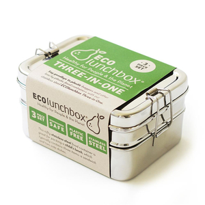 ECOlunchbox Three-in-One, 3-teilige Brotdose aus Edelstahl - ECOlunchbox