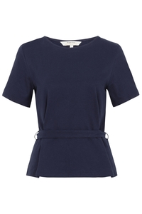 Megan Open Back Top Navy - People Tree