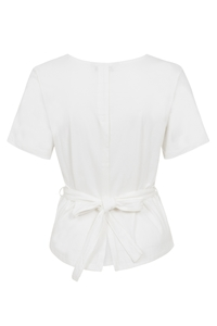 Megan Open Back Top White - People Tree