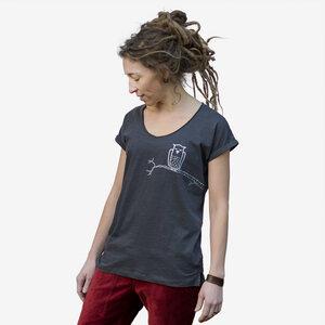 Zweigeule Damenshirt anthrazit - Cmig