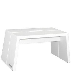 Design Fußbank Massiv-Holz Buche Weiß matt lackiert mit Tragegriff - NATUREHOME