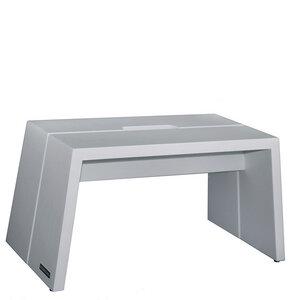 Design Fußbank Massiv-Holz Buche Grau matt lackiert mit Tragegriff - NATUREHOME