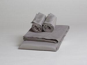 Bettwäscheset Baumwollsatin Stone Grey - Yumeko