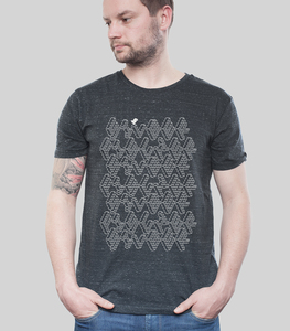 Shirt Men Dark Heather Grey 'ASCII' - SILBERFISCHER