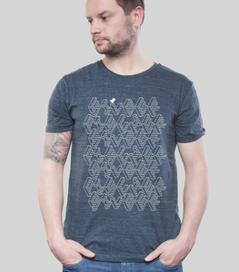 Shirt Men Dark Heather Denim 'ASCII' - SILBERFISCHER