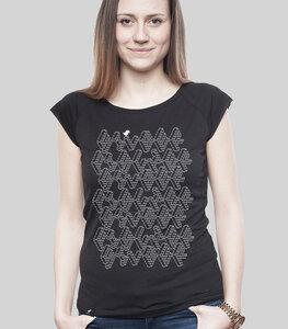 """Bamboo Raglan Shirt Women Black """"ASCII"""" - SILBERFISCHER"""