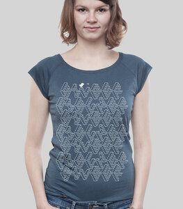 """Bamboo Raglan Shirt Women Denim """"ASCII"""" - SILBERFISCHER"""