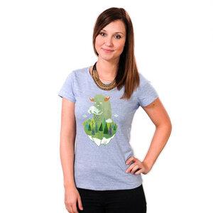 Make it Rain - Bio Printshirt Frauen - Coromandel