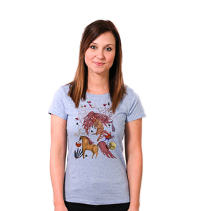 Witch in a Wonderland - Printshirt Frauen Bio & Fair - Coromandel