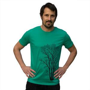 Herren T-Shirt Erle mit Elster in vivid green - Cmig