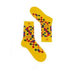 Mehrfarbige Socken für Frauen und Männer. Schrill und sozial. - Younited Cultures