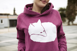Fuchs Unisex Hoodie _ Bio / Fair / Recycelt _plum - ilovemixtapes
