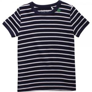 Stripe short sleeve T Navy - Green Cotton