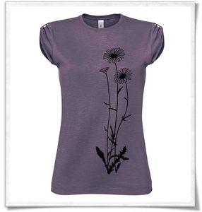 Blumen in lila  Fraun T-Shirt  - Picopoc