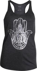 OGNX Yoga T-Shirt Loose Tank Hamsa Damen Anthrazit - OGNX