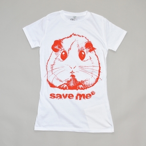 Women T-Shirt SAVE ME weiß - MR. NELSON ecowear