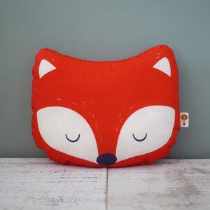 Kleines Kissen Fuchs aus Bio-Baumwolle - TELL ME