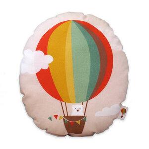 Kleines Kissen Heißluftballon aus Bio-Baumwolle - TELL ME