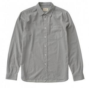 Hemd Henry Batiste Garment Dye - light grey / offwhite - Nudie Jeans