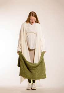 schlichtes, weißes Cape aus reiner Baumwolle - Natascha von Hirschhausen