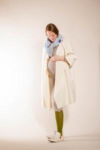 schlichter, weißer Mantel aus reiner Biowolle - Natascha von Hirschhausen